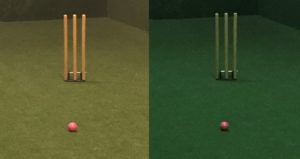 Different tints adn the Cricket ball